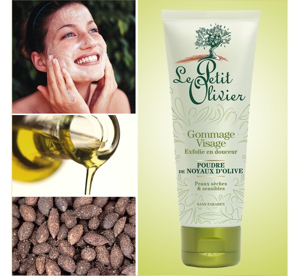 Le Petit Olivier Facial Scrub Gently Exfoliates with Olive Pit Powder – Dry and Sensitive Skin