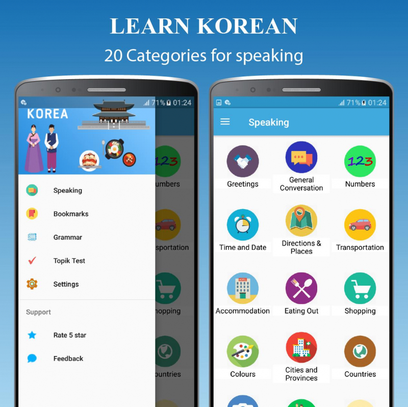 Nhiều chủ đề đa dạng cùng Learn Korean - Grammar