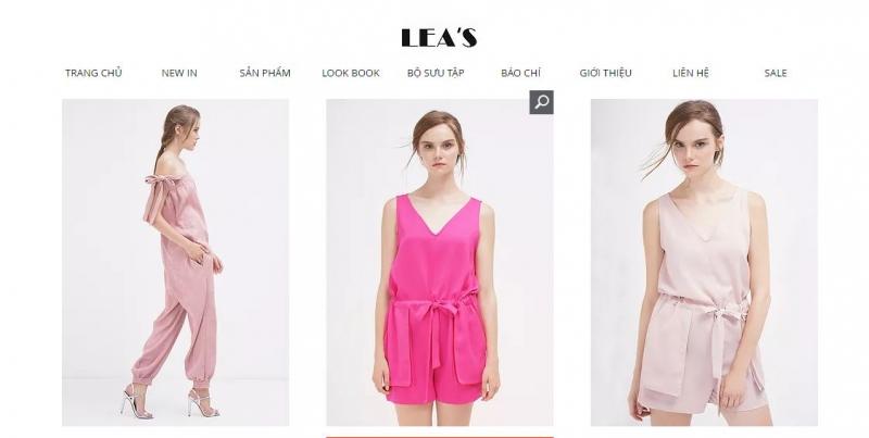 Mẫu jumpsuit trên trang chủ của Lea's