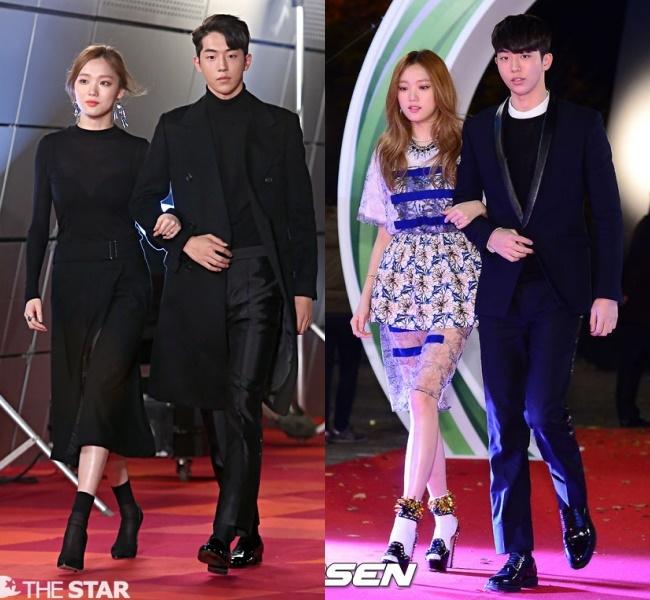 Nam Joo Hyuk và Lee Sung Kyung cùng tham gia các sự kiện lớn