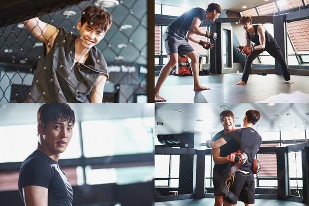Cảnh tập boxing trong Hai Thế Giới