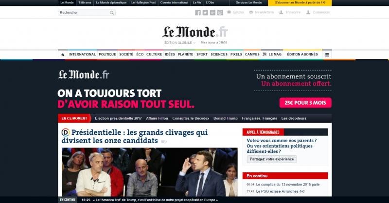 Trang báo điện tử này sẽ rất hữu ích cho những bạn thích đọc báo chí quốc tế bằng tiếng Pháp