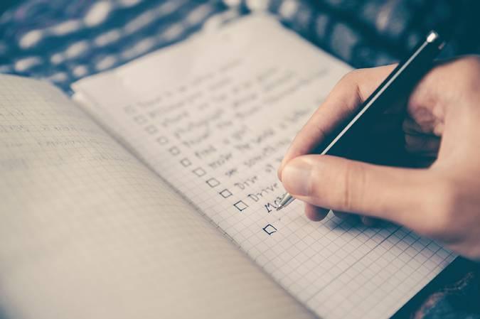 Lên danh sách những điều cần làm trước khi quá muộn