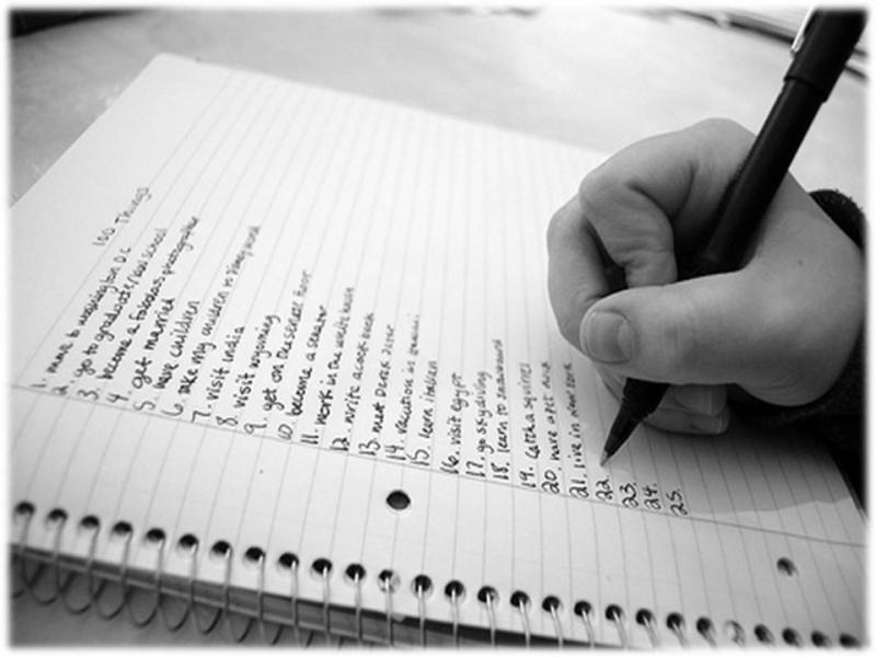 Lên một danh sách các việc cần làm cho tương lai của bạn