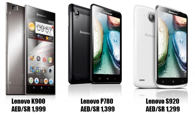 Một vài mẫu smartphone của Lenovo