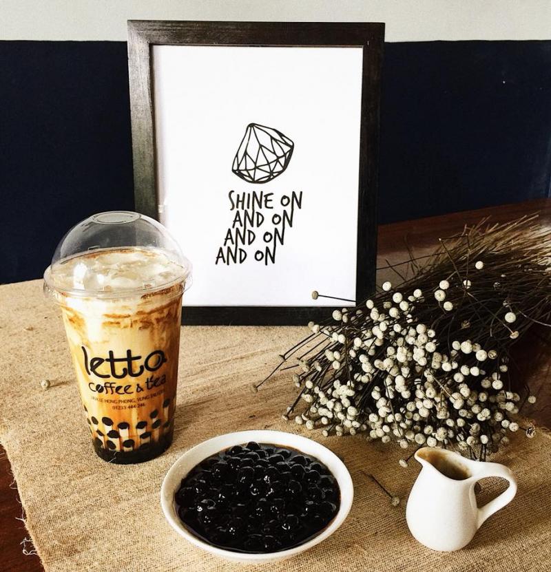 Sữa tươi trân châu đường đen tại LETTO rất được ưa thích