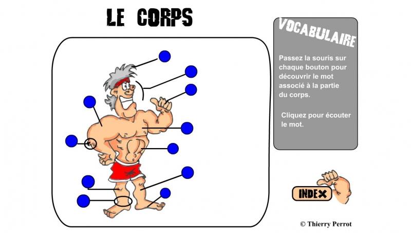 Đây là một phần giao diện về cách học tiếng Pháp trên lexiquefle