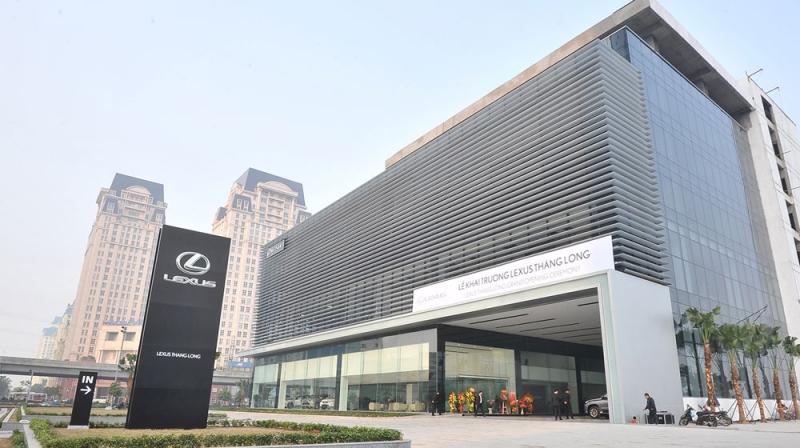 Hình ảnh showroom Lexus Thăng Long.