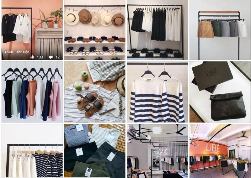 Váy áo và một số phụ kiện tại Libé Workshop