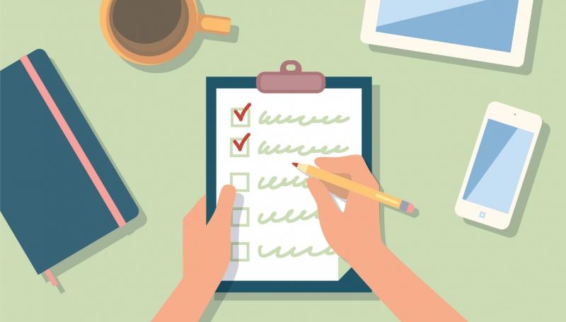 Liệt kê những mục cần làm và stick bỏ khi hoàn thành