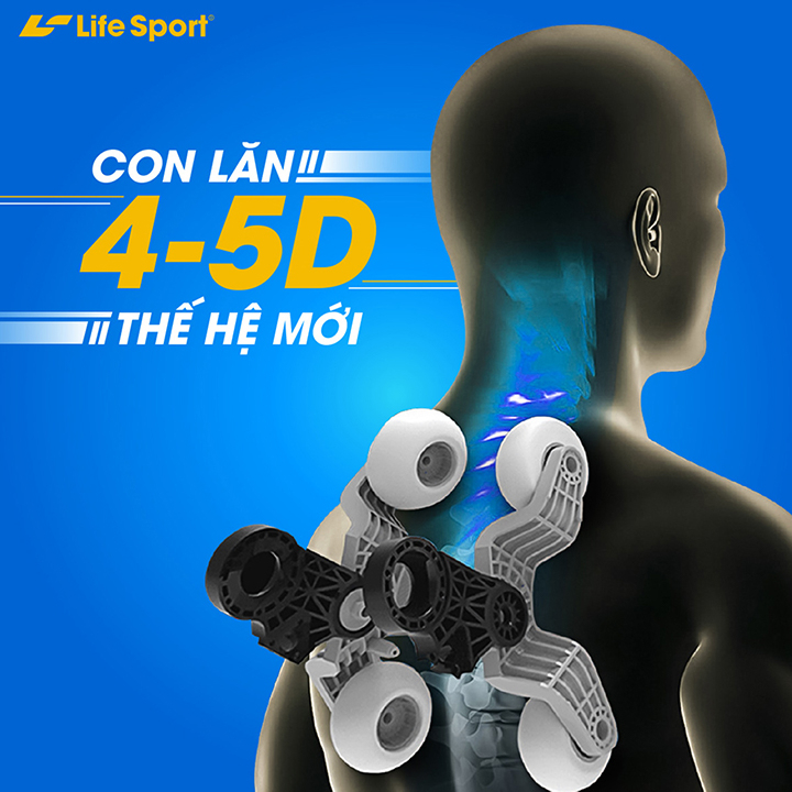 Ghế massage của Lifesport với chức năng hiện đại