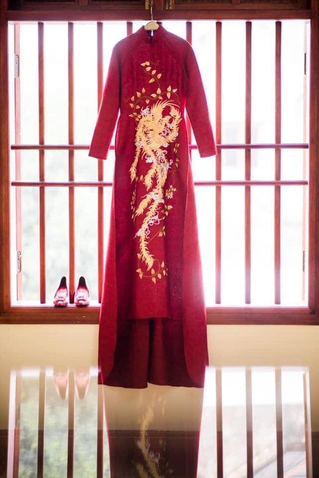 Mẫu áo dài cưới tại Lin House