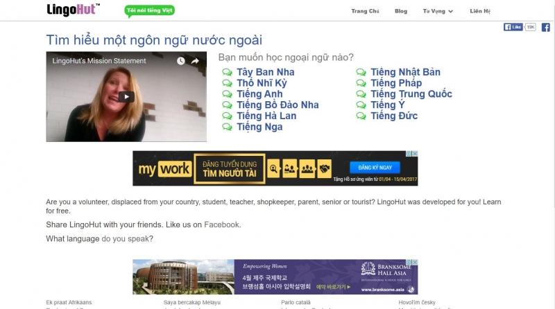 Lingohut giúp bạn trong việc học ngoại ngữ dễ dàng hơn