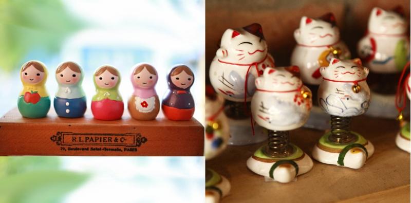 Một số sản phẩm quà tặng, trang trí tại Lingzakka