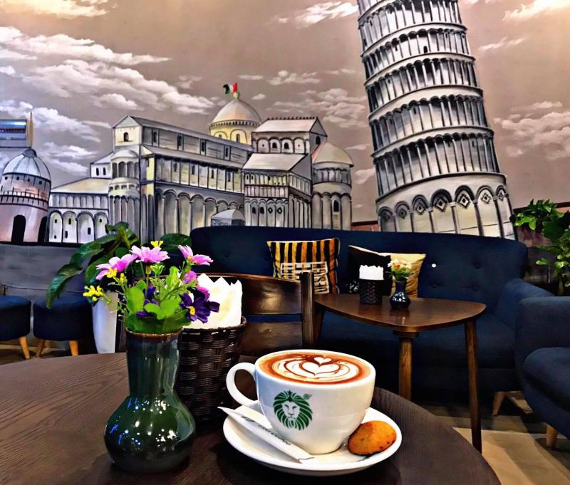 Cafe mang phong cách hiện đại
