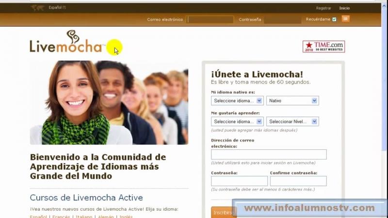Các bước đăng kí học của Livemocha