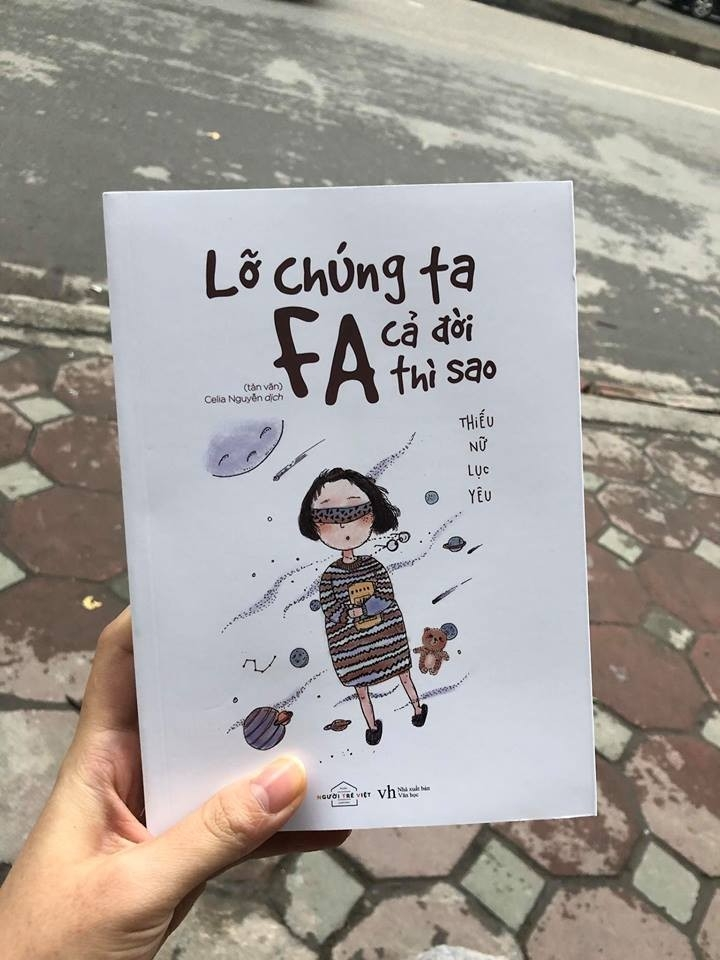 Bìa sách ''Lỡ chúng ta FA cả đời thì sao'' thật đáng yêu