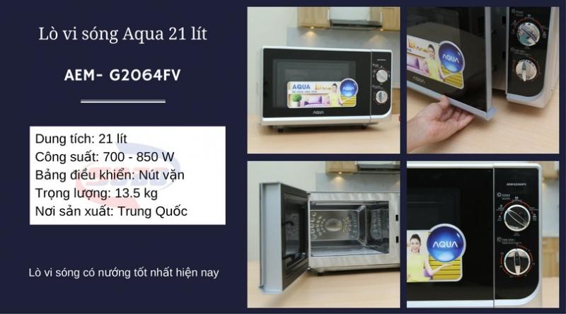 Lò vi sóng Aqua AEM- G2064FV 21 lít