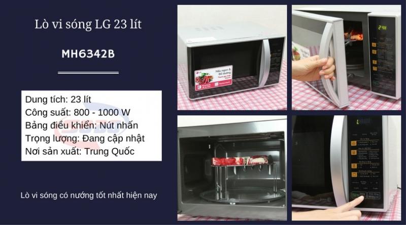 Lò vi sóng LG MH6342B 23 lít