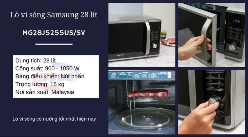 Lò vi sóng Samsung MG28J5255US/SV 28 lít