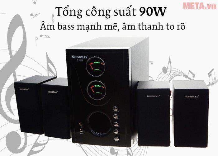 Loa máy tính SoundMax A8800 4.1 công suất mạnh mẽ