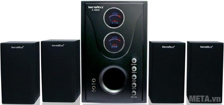 Loa máy tính SoundMax A8800 4.1 thiết kế hiện đại, đẹp mắt
