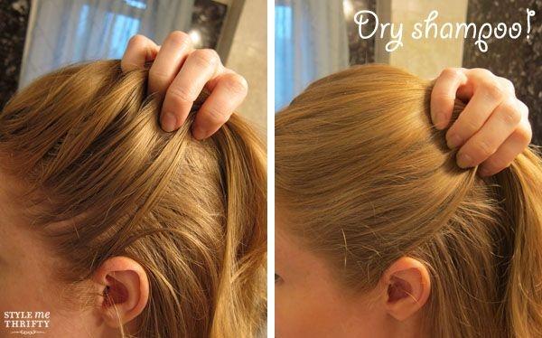 Trước và sau khi dùng phấn rôm trị tóc bết