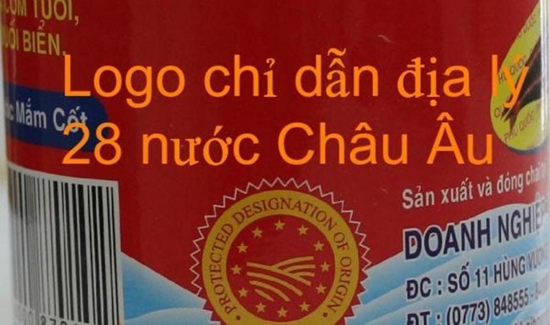 Logo chỉ dẫn địa lý in trên vỏ chai