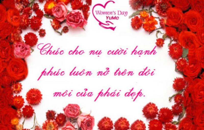 1 lời chúc cũng làm cho người phụ nữ yêu thương cảm thấy ấm lòng