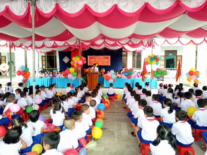 Lời dẫn chương trình khai giảng trường tiểu học số 2