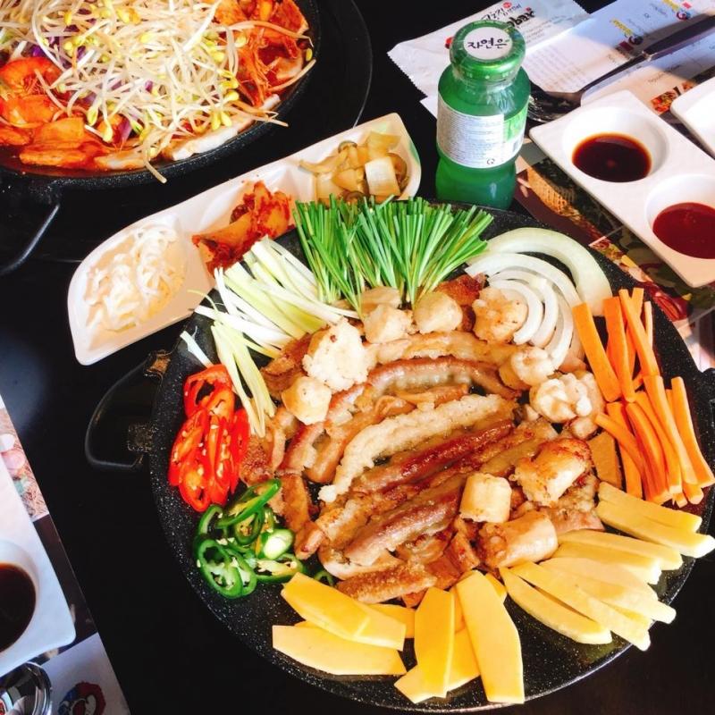 Lòng bò xào Hàn Quốc