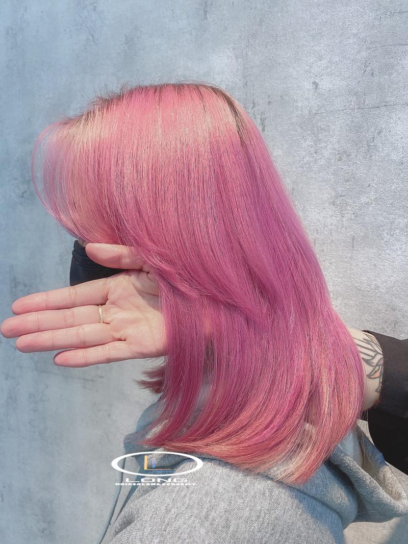 Tóc đẹp, chắc khỏe sau khi chăm sóc tại Long Hairsalon & Acedamy