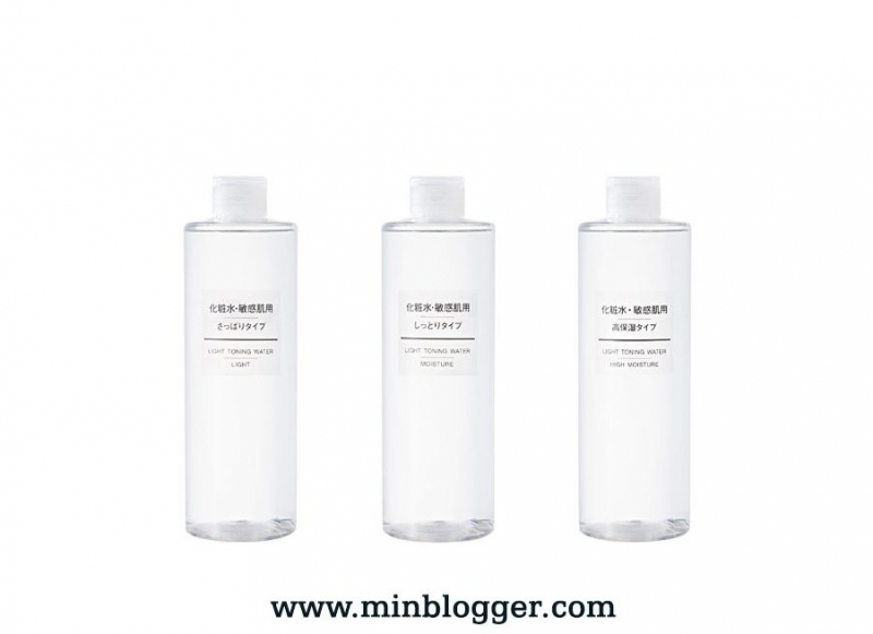 3 dòng của Lotion Muji Light Toning Water