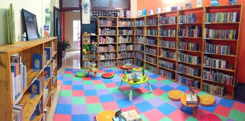 Không gian xinh đẹp của  thư viện Lotus Community