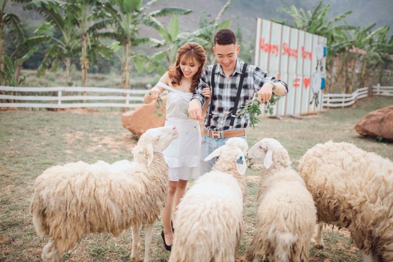 Ảnh chụp câu chuyện tình yêu đời thường tại Happy land Mộc Châu