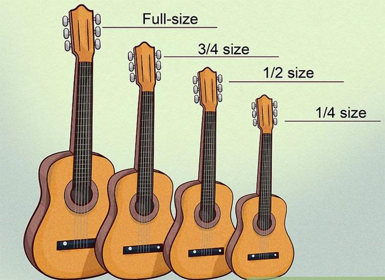 Lựa chọn đàn dựa vào kích thước
