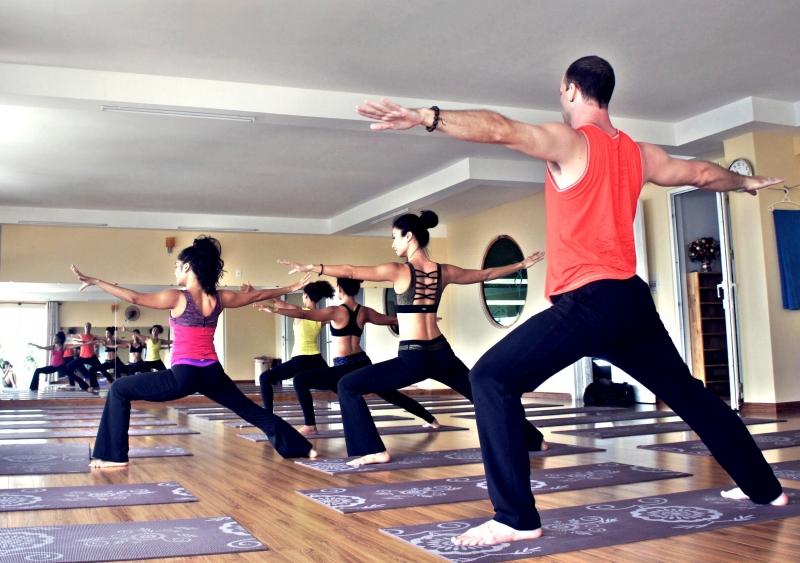 Một lớp học Yoga tại Hà Nội