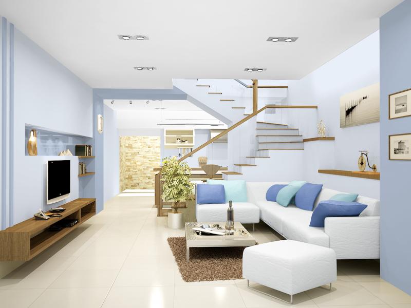 Màu sơn nhà ngoài dựa theo sở thích cũng nên tuân theo một số nguyên tắc phong thủy