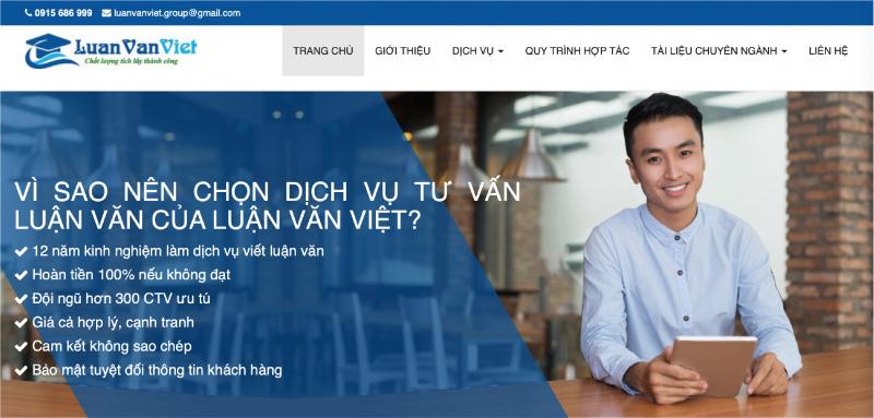 Luanvanviet.com là đơn vị đi đầu trong lĩnh vực cung cấp dịch vụ viết luận văn thuê