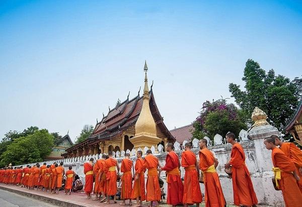Hình ảnh có lẽ chỉ Luang Prabang mới có