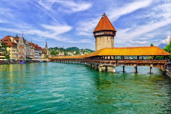 Lucerne là một thị trấn cổ kính của Thụy Sĩ