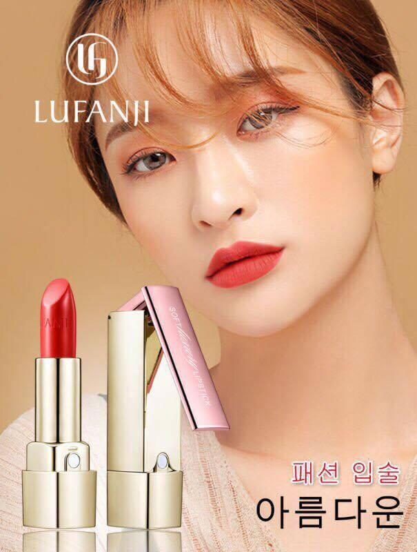 Lufanji #05 khi thử lên môi.