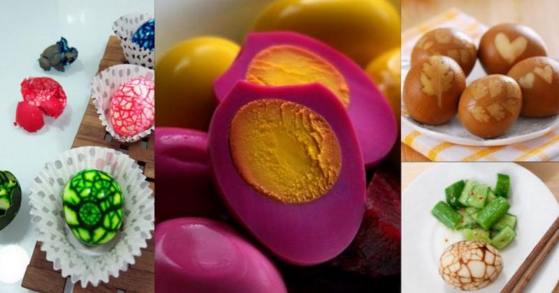 Luộc trứng tím