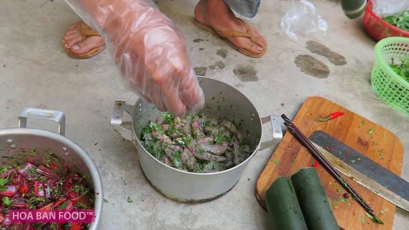 Lươn nướng ống nứa