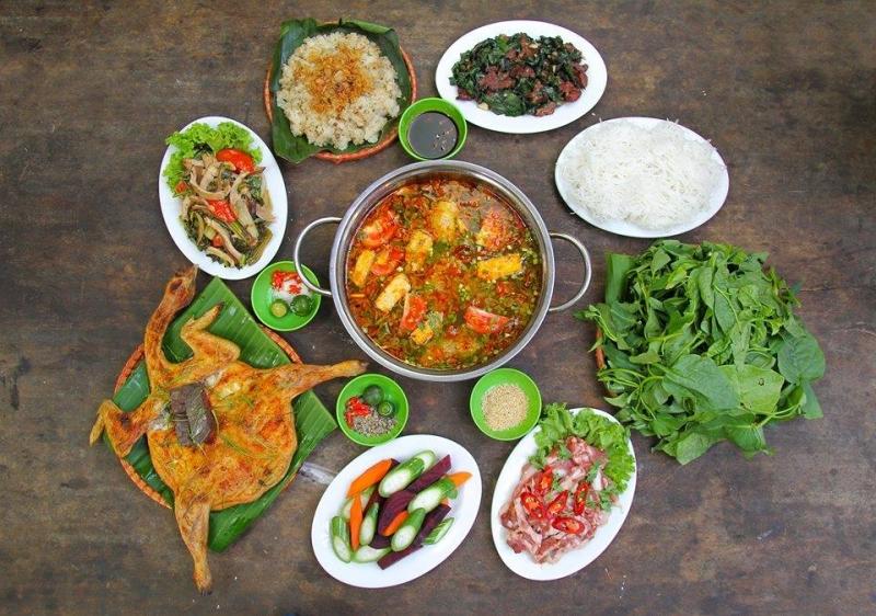 Những hương vị đồng quê độc đáo tại Lương Sơn Quán rất ngon và vừa miệng