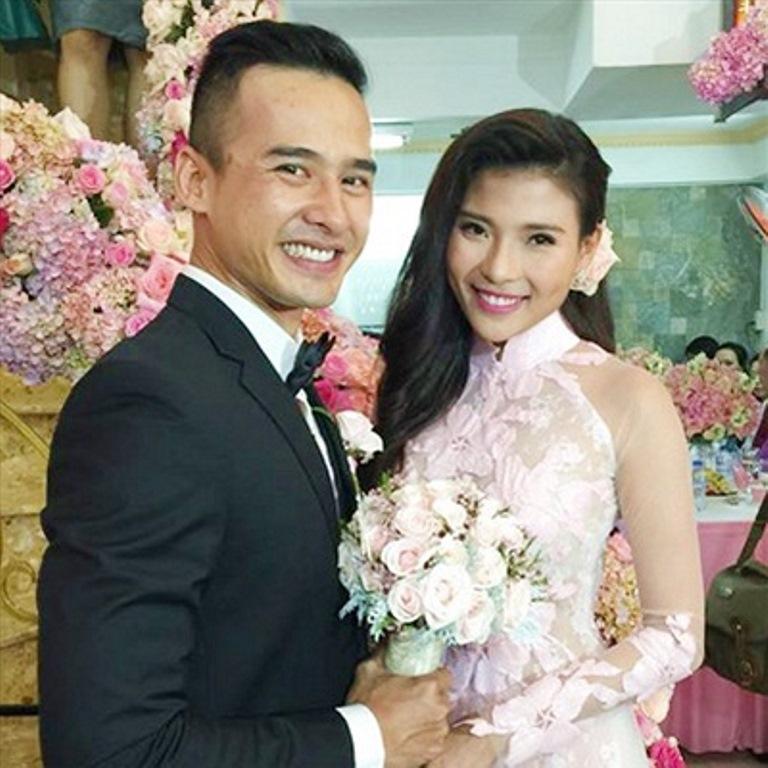Vợ chồng Lương Thế Thành và Thuý Diễm trong ngày cưới