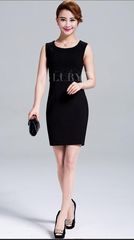 Đầm đen Hàn Quốc cho các quý cô công sở.