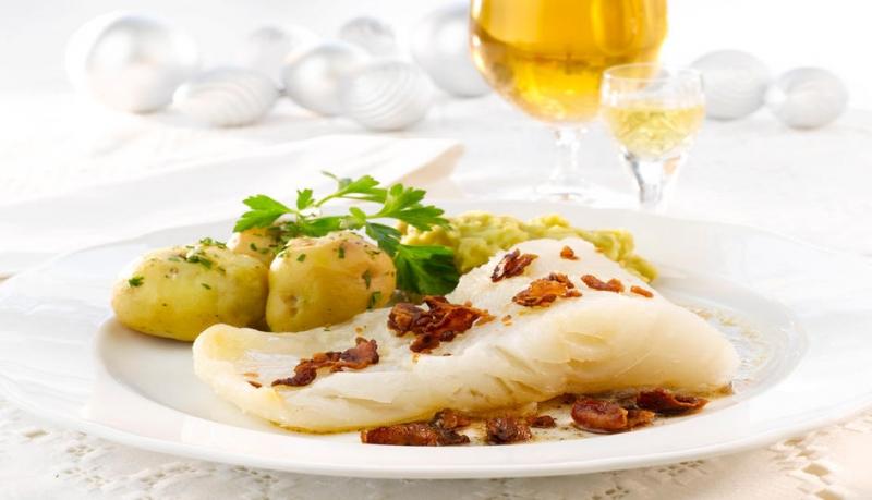 Đây là món cá tuyết khô được ngâm giấm- một món cá truyền thống của Na Uy.