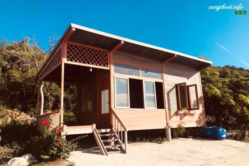 Lưu trú tại nhà bungalow hoặc Homestay