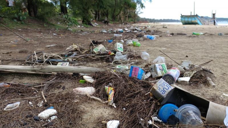Tránh xả rã bừa bãi để cùng bảo vệ Đảo Cô Tô được sạch đẹp